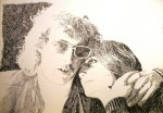 """Tomas & Gittan"", blyerts på papper, 2010"