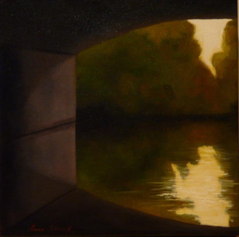"""""""Utsikt I"""", olja på duk, 30×30 cm, 2010"""