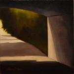 """""""Utsikt 2"""", olja på duk, 30×30 cm, 2010"""