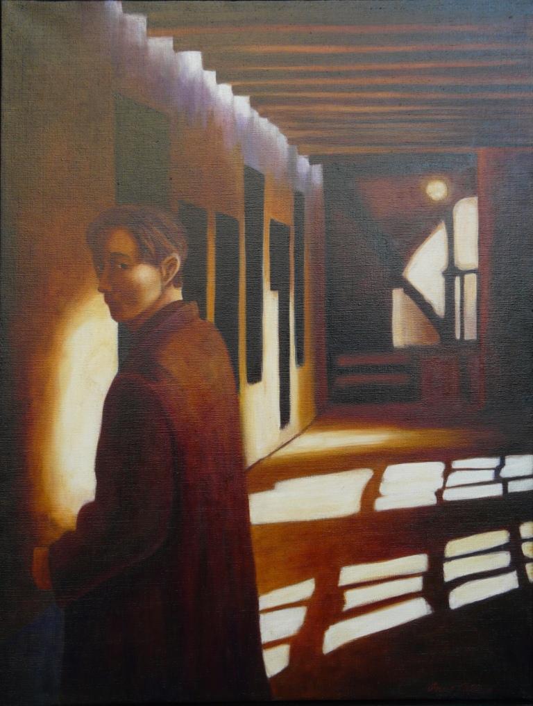 """""""Blick"""", olja på duk, 74 x 96 cm, 7.000:-"""