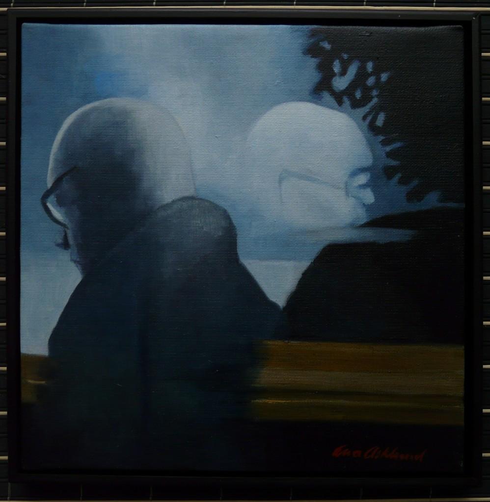 """Reflektion I"", olja på duk, 30 x 30 cm, 3.400:-"