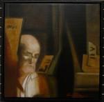 """Reflektion II"", olja på duk, 30 x 30 cm, 3.400:-"