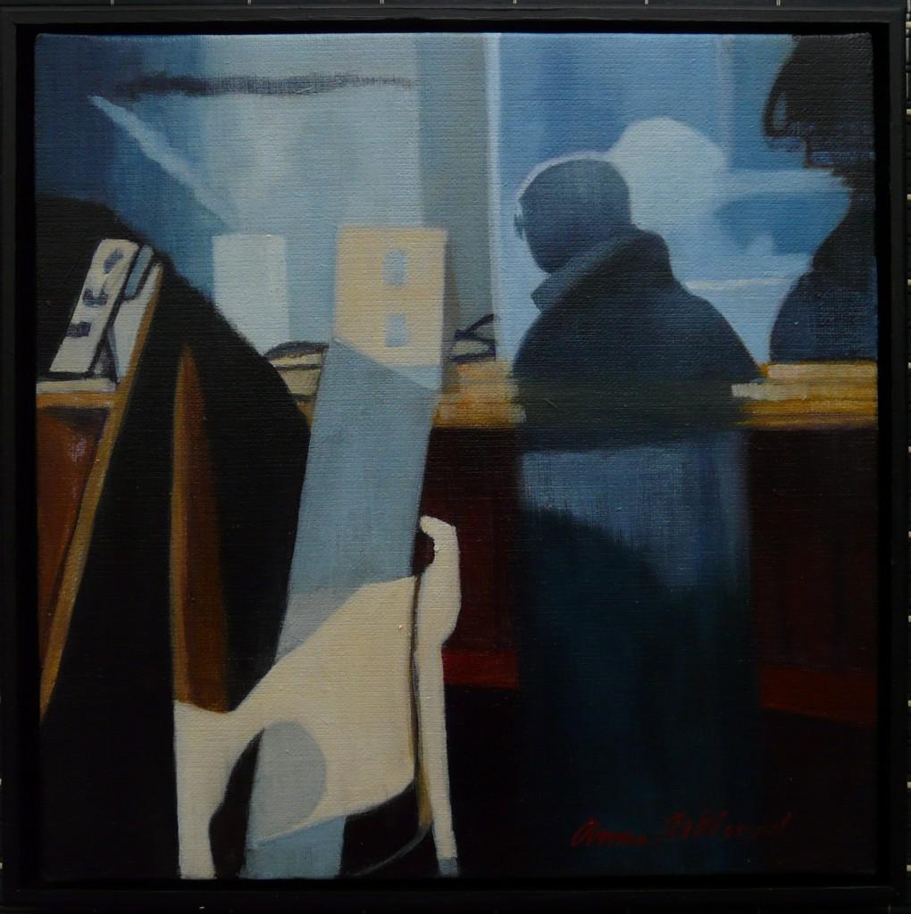 """Reflektion III"", olja på duk, 30 x 30 cm, 3.400:-"